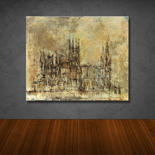 hot sells single panel Canvas for Living Room sketch up of the church art Home Decoration Modern Painting printed