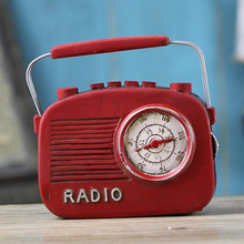 Retro Resin Craft Red Radio Decoration Vintage Home Decor Birthday Gift Home Furnishing Ornaments Red Radio