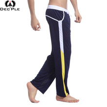 2017 Fashion loose pants for Men Fitness Workout Legging Summer Sporting Thin Strip Fitness Male Long Pants breathable quick dry