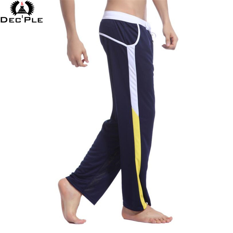 2017 Fashion loose pants for Men Fitness Workout Legging Summer Sporting Thin Strip Fitness Male Long Pants breathable quick dry(China (Mainland))