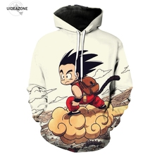 UIDEAZONE Anime Dragon Ball Z Pocket Hooded Sweatshirts Kid Goku 3D Hoodies Pullovers Men Women Long Sleeve Outerwear New Hoodie(China)
