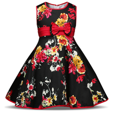 Little Princess Girls Dress Floral Printed Infant Party Costume For Kids Clothes Children's Clothing Girl Summer Frocks Vestidos
