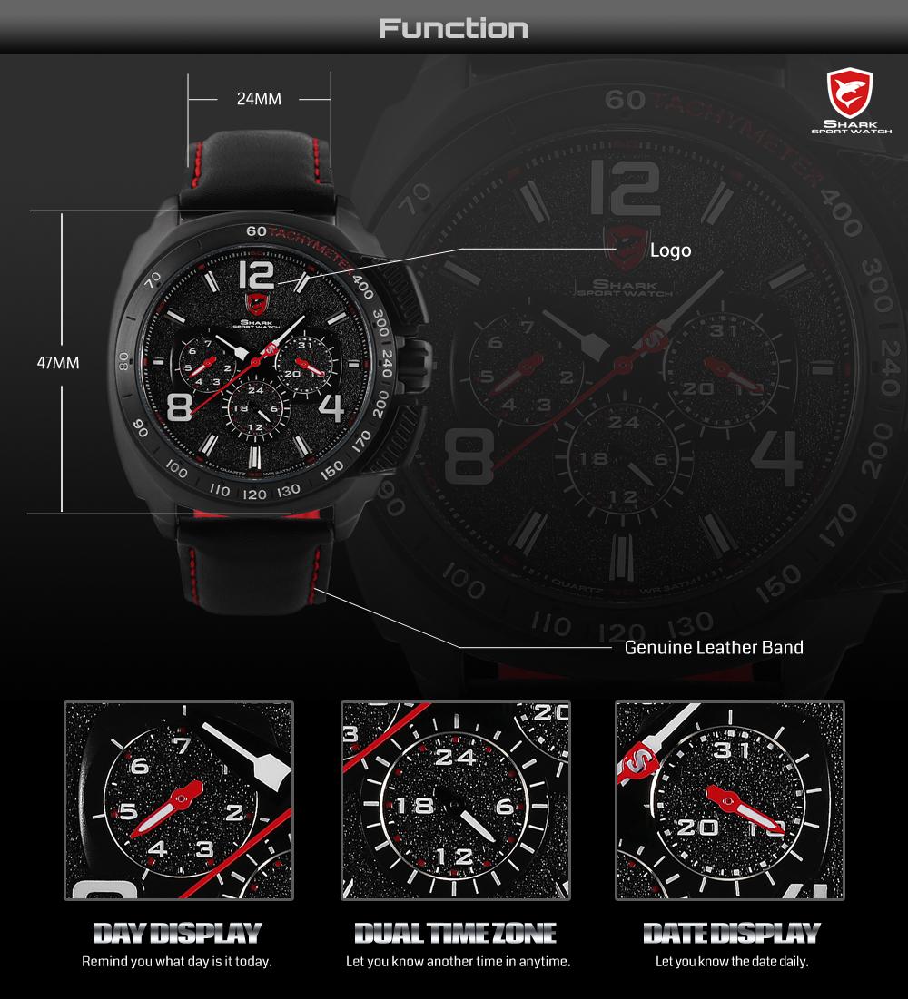 HTB1RpGURFXXXXXjXVXXq6xXFXXXj - Tiger Shark 3rd Generation Sport Watch - Red SH417