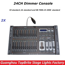 2Pcs Dimmer Console 24 Channels DMX 512 Controller,High Quality Stage Lights Controller DMX Disco Club/Professional Equipments