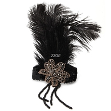 2017 Indian Sequin Feather Headband Flapper Handmade Headpiece Hair Rope Headdress  MAR30_17