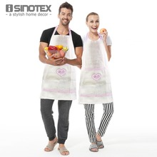 1pcs/lot Linen Apron Embroidery avental Kitchen Cooking For Dining Room Barbecue Restaurant With Pocket Letter Floral Halterneck