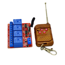 4CH 24V DC RF Wireless Universal Remote Control 433mhz Learning Receiver Module For Light and Garage Door(China)