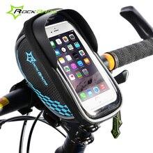 Rockbros Road MTB Bike Bag Cycling Front Handlebar Frame Pannier Bicycle Bag 5.5 Inch Touchscreen Phone Case Bike Accessories