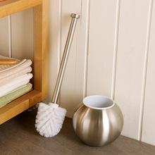 Free shipping Stainless steel spherical bathroom Toilet brush,Brushed Nickel Bathroom hardware accessories(China)