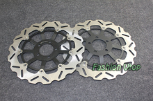 Black Motorcycle Front Brake Disc Rotors For ZZR 1100 D1-D9 93-01 Universel