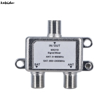 Kebidu 2 Way Cable Satellite Splitter TV Signal Satellite Sat Coaxial Diplexer Combiner Splitter Combiners Cable Switch Switcher(China)
