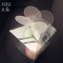Clear Leaf Clover Box Flower Plastic Wedding Favor Gift Candy Handmade Soap Packaging Boxes Transparent PVC Free Shipping(China)
