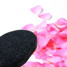 Top Sale  1 pcs Soft Big And Thick Natural Black Bamboo Sponge Beauty Face Cleaning Wash Makeup Puff
