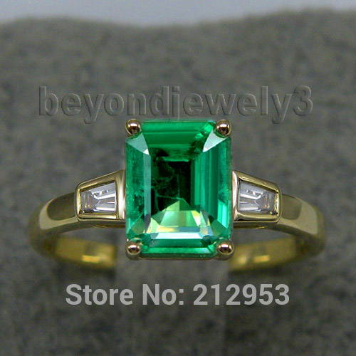 Gold Emerald Ring Mens Promotion Shop for Promotional Gold Emerald