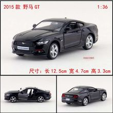1PC 1:36 12.5cm Yufeng Ford mustang GT 2015 car roadster alloy vehicle model pull back boy birthday toy(China)