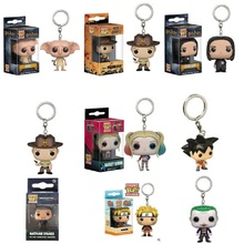 New Funko Pop Keychain Toy Rick Harry Potter Dobby Severus Snape Naruto Suicide Squad The Joker Vinyl Pocket Pop Keychain Toys