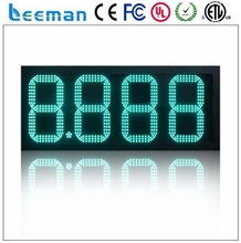 "leeman 12"" large digits led gas price sign 48inch petrol price panel led gas station signs with lcd remote control"