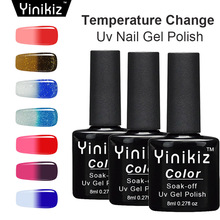 Yinikiz 1pcs Fashion Temperature Change Nail Gel Polish Soak Off UV Gel Polish Hot Sale DIY Nail Art Nail Polish