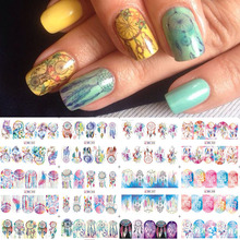 1 sheet Dream catcher Nail Stickers Feather Nail Art Water Transfer Decals Polish Manicure Full Cover Wraps Decor LABN301-312(China)