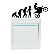 Motocross Racing Evolution Vinyl Switch Sticker Home Room Door Wall Decal 5WS0357