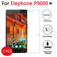 2 Pcs For Elephone P9000 Tempered Glass For Elephone P9000 P 9000 Phone Screen Protector Cover Protective Film Guard Case(China)