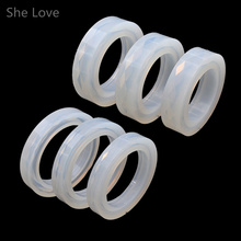 She Love Soft Silicone Jewelry Mould Epoxy Bracelet Bangle Mold Hand Resin Craft Jewelry Making Mold
