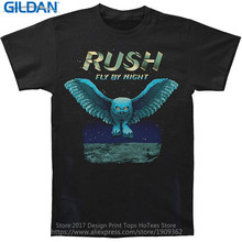 Good T Shirt Designs Graphic Men Online Store Rush Fly By Night Owl O-Neck Short-Sleeve T Shirts(China)
