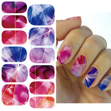 Fashion Nail Art Stickers Mysterious Blue Ocean Drops Water Transfer Nail Sticker New Manicure Minx Nail Wraps Foil Decals