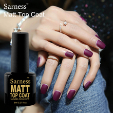Sarness UV Gel Primer Soak Off Matt Top Coat Nail Gel Polish 8ML Non Cleaning Long Lasting Matte Top Coat LED Nails Gel Lacquer