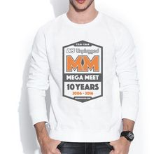 DIS UNPLUGGED OFFICIAL MEGA MEET 1606496 Male Hoodies 3D Retro Design Print Crew Neck Men's Sweatshirts
