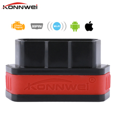 Buy Konnwei ELM327 OBD2 wifi Diagnostic Tool IOS iPhone iPad Android Code Reader Scan Tool wifi ELM 327 PIC18F25K80 Chip for $16.99 in AliExpress store