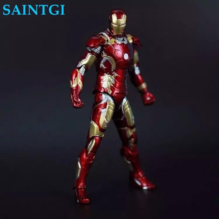 SAINTGI Ironman MARK43 New Avengers Stark Tonny Marvel Action Figures PVC Hot Magic Animation Collection Model<br>