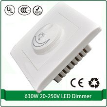 Silicon controlled rectifier dimmer switch 110V 220v Max 630W led dimmer light wall switch dimmer