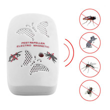 Universal US EU Plug Electronic Ultrasonic Rat Mouse Repellent Indoor Anti Mosquito Insect Pest Killer Repeller Pink White Color(China)