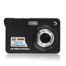 Black HD 2.7'' TFT LCD Digital Camera Camcorder TF card JPEG/AVI CMOS Senor 2.7'' TFT 8x Zoom Anti-shake in High Quality