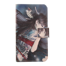 ABCTen Cell Phone Protector Flip Cover Cartoon PU Leather Wallet Case for Micromax Bolt Q341(China)