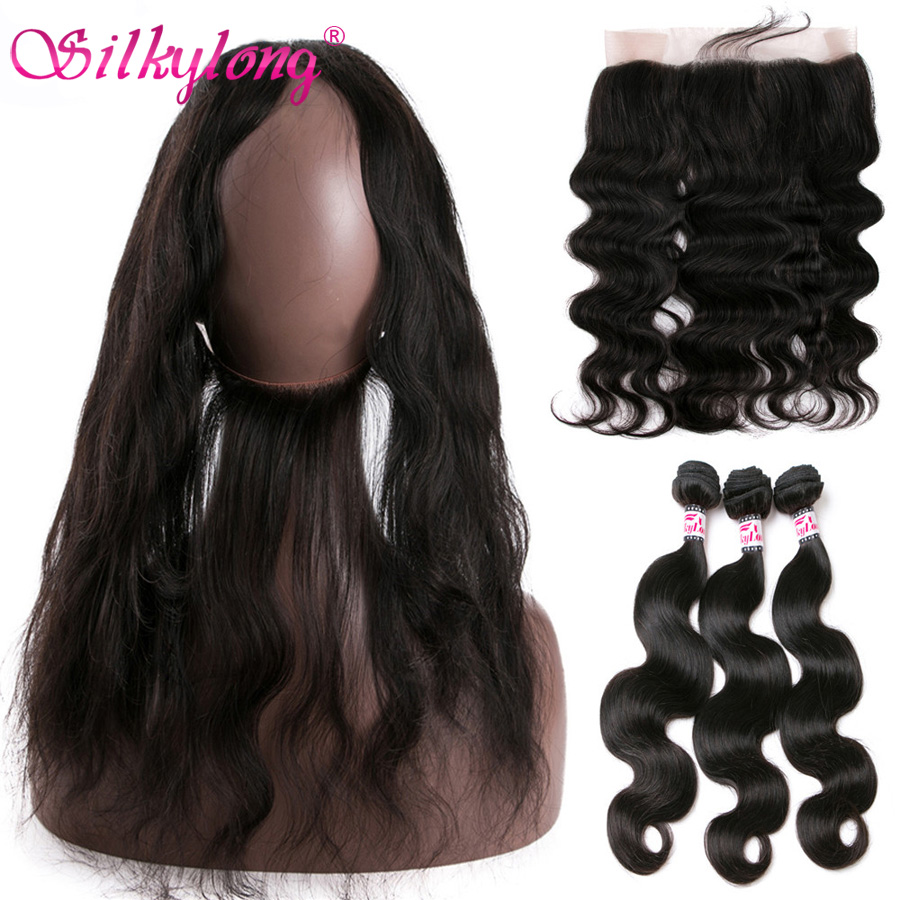 Brazilian Body Wave 360 Lace Front Closure With Bundles 7A Body Wave Brazilian Hair 360 Lace Frontal With Bundle Soft Human Hair<br><br>Aliexpress