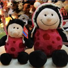 1pc 25cm Hot Sale Nici plush toy stuffed doll Pink Ladybug Ladybird lover christmas birthday gift