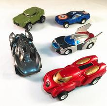 5pcs hot sale Pull Back Wheels Car Captain America hulk ironman batman car Model Kids Toy Birthday Gift For Kids(China)