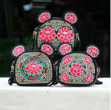 2017 New Embroidery All-match Handbags!Hot National Lady Shopping Small Shoulder&Crossbody bags Fashion Women canvas Carrier(China)