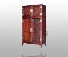 Europe and America Antique Rosewood Wardrobe Bed Room Solid Wood Furniture Padauk Garderobe Flat Sliding Door Closet Clothespres(China)