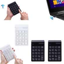 USB Wireless Numeric Keypad 19 Keys Numpad Number Pad with 2.4G Mini Receiver for Laptop Desktop PC Notebook QJY99