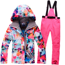 New Winter GSOU SNOW ski Suit Women Sets Windproof Breathable Waterproof Women Snow Jacket+Pants Warm Clothes Set(China)