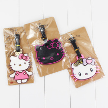 13Style Hello Kitty Cute Creative Silicone Luggage Tag Pendants Hang Tags Tourist Products Toy Travel Luggage Label 1pc