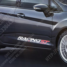 3 pairs Customization ST RACING Stickers Decal Car-Styling For FORD FOCUS 2 focus 3 Mondeo Fiesta Kuga MK2 MK3 car accessories(China)