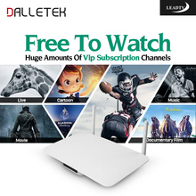 Dalletektv Android Smart Tv Set Top Box IPTV Box With 600+ Free Iptv Subscription Europe Arabic French Sport IPTV Channels(China)