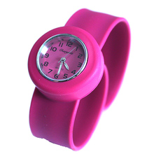 High Quality Silicone Strap 1pcs Boy Girls Jelly Candy Slap Student Quartz Sports Party Gifts Analog Wristwatch Lady Watch 2017(China)