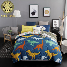 Medusa 2017 new dinosaur boys/girls bedding set king queen double single size bed linen set