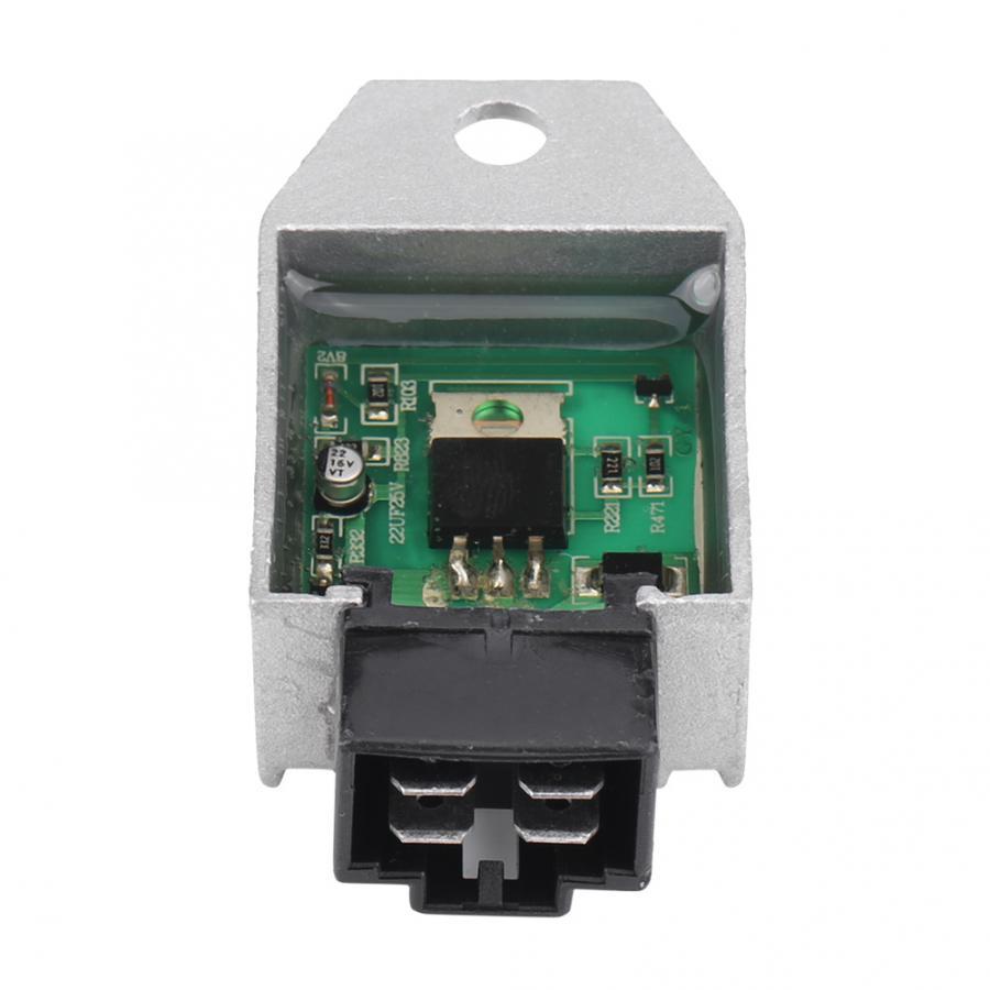 BiuZi Motorcycle Voltage Regulator Universal 4 pin Motorcycle Motor Surge Protector Voltage Regulator Rectifier