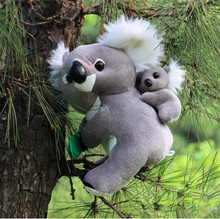 30CM Koala bear cinereus mother and son plush toy bear doll child(China)